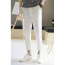 Guys Summer New Fashion Contrast Stripe Side Men's Casual Linen Tapered Pants