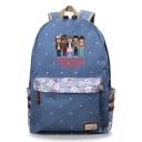 Popular Cartoon Character Printed Canvas Backpack School Bag 30*14.5*42cm
