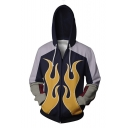 Iron Fist 3D Printed Cosplay Costume Purple Long Sleeve Drawstring Zip Up Hoodie