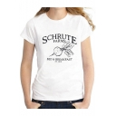 Schrute Farms Graphic Printed White Short Sleeve T-Shirt