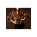 New Stylish Winter's Leopard Print Warm Faux Cropped Fur Coat