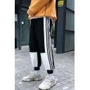 Unisex Hot Fashion Colorblock Stripe Side Casual Loose Track Pants