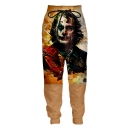 New Fashion Color Block Clown 3D Printed Drawstring Waist Casual Loose Sweatpants