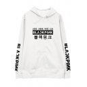 Fashion Kpop Girl Group Letter Printed Long Sleeve Unisex Casual Hoodie