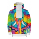 New Arrival Cute Cartoon Elephant Pattern High Neck Long Sleeve Unisex Casual Pullover Hoodie