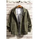 New Arrival Popular Vintage Plain Lapel Collar Long Sleeve Single Breasted Casual Workwear Jacket