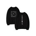 Autumn Winter Kpop Boy Group Logo Print Long Sleeve Round Neck Sweatshirt