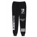 Men's Popular Fashion Letter Printed Drawstring Waist Casual Sweatpants