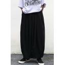 Unisex Retro Fashion Soldier Color Designer Culottes Wide Leg Pants