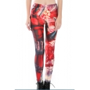 Hot Popular Red 3D Figure Printed Sport Athletic Fitness Yoga Leggings