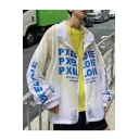 New Street Style PXEL ODE Letter Printed Long Sleeve Hooded Zip Placket Sun Protection Sport Coat