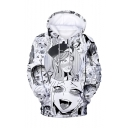 Popular Ahegao Cartoon Comic Manga Faces Pattern Long Sleeves Pullover Hoodie