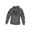 New Arrival Cool Printed Long Sleeve Drawstring Hooded Mens Casual Sports Hoodie