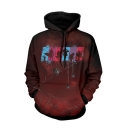 Hot Fashion Cool Spider 3D Printed Long Sleeve Burgundy Pullover Hoodie