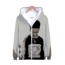 American Popular Rapper 3D Printed Long Sleeve Zip Up Hoodie