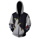Iron Fist Comic 3D Printed Cosplay Costume Long Sleeve Drawstring Zip Up Hoodie