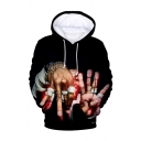New Fashion American Popular Rapper 3D Printed Long Sleeve Drawstring Pullover Hoodie