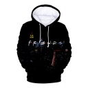 Hot Fashion Class Friends Letter City Scene 3D Printed Drawstring Hooded Long Sleeve Unisex Pullover Hoodie