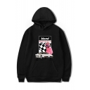 Hot Fashion BLOND Letter Car Checkerboard Figure Printed Long Sleeve Casual Sports Pullover Hoodie