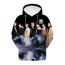 Fashion Kpop Boy Group 3D Character Print Long Sleeve Unisex Hoodie