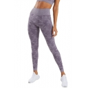 Womens New Trendy Fold Over High Waist Camo Print GYM Running Sport Skinny Yoga Leggings Pants