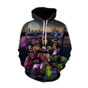 New Fashion Comic Figure Letter 3D Printed Long Sleeve Drawstring Pullover Hoodie