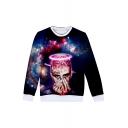 Hot Fashion American Popular Rapper Galaxy 3D Printed Long Sleeve Round Neck Navy Sweatshirts