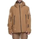 New Trendy Simple Plain Zip Closure Long Sleeve Windbreaker Jacket For Men