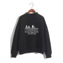 Stranger Things Letter Cartoon Figure Printed Long Sleeve Round Neck Casual Loose Sweatshirt