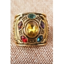 Popular Infinity Gauntlet Cosplay Diamond Studded Gold Ring