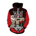 New Arrival Christmas Sexy Santa Claus 3D Printed Drawstring Hooded Long Sleeve Casual Loose Hoodie