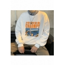 Popular Fashion Letter JOINUR CNAOMPY Figure Printed Round Neck Long Sleeve Unisex Casual Pullover Sweatshirts