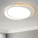 Acrylic Shade Circular Ceiling Light Monochromatic LED Flush Mount Light in Warm/White