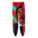 Hot Popular Chance The Rapper 3D Printed Drawstring Waist Casual Loose Joggers Sweatpants