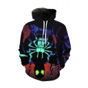 Hot Fashion Cool Spider 3D Printed Drawstring Hooded Long Sleeve Casual Loose Hoodie