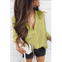 Girls New Trendy Classic Polka Dot Print Lapel Collar Long Sleeve Casual Shirt