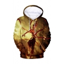 New Fashion Cool Comic Character 3D Printed Drawstring Hooded Long Sleeve Loose Pullover Hoodie