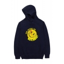 Popular Fashion Letter WATCHMAN Emoji Graphic Printed Long Sleeve Unisex Casual Sports Pullover Hoodie with Pocket