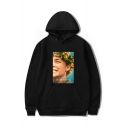 New Fashion Midsommar Character Letter Floral Printed Long Sleeve Casual Sports Hoodie