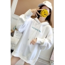 New Fashion Letter Printed Long Sleeve Loose Oversized Drawstring Hoodie