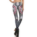 Unique Grey Warrior Armour 3D Print Fitness GYM Athletic Yoga Leggings