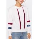Hot Popular Long Sleeve Striped Hoodie Sweatshirt