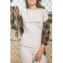 Summer New Stylish Simple LOVE Letter Printed Round Neck Short Sleeve Cotton Tee