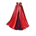 Halloween Plain Hooded Witch Cosplay Costume Long profile Cloak Cape Coat for Women