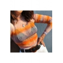 Womens New Fashion Mock Neck Long Sleeve Tie-dye Print Mesh Patch T-Shirt
