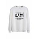 Popular Fashion Boy Figure Printed Round Neck Long Sleeve Casual Pullover Sweatshirts