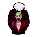 Hot Fashion HAHA Joker 3D Printed Long Sleeve Red Loose Pullover Hoodie