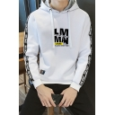 Popular Fashion Letter Printed Tape Side Long Sleeve Casual Sports Pullover Hoodie