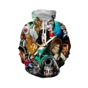 Hot Fashion Comic Character 3D Printed Drawstring Hooded Long Sleeve Unisex Loose Hoodie