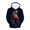 Popular Game Comic Character 3D Printed Navy Long Sleeve Casual Loose Pullover Hoodie